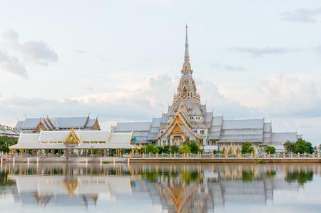 Wat Sothon Wararam Worawihan, Chachoengsao, Thailand Stock Photo