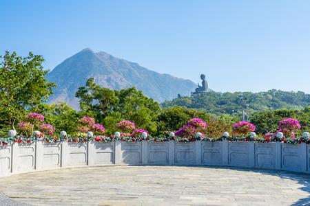 Polin Tempel mit Buddha-Bild in Hong Kong