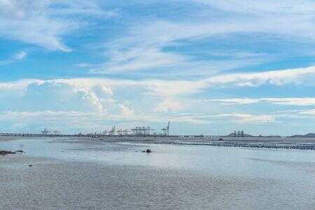 Summer daytime seascape of sriracha, Chonburi, Thailand
