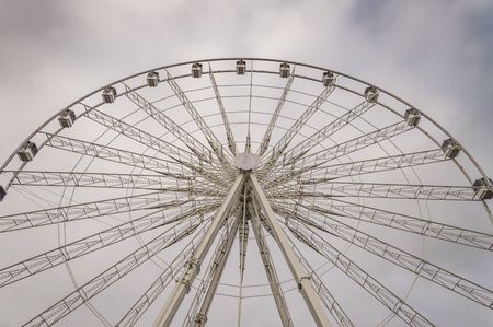 concorde: Paris ferris wheel   Image with the ferris wheel located on Place de la Concorde in Paris, near the Louvre museum. Editorial