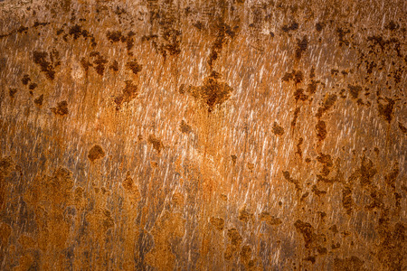 surface aged: Rusty sheet metal texture - Old rusty metal plate surface very aged and corroded. Image great as background, layer or a rusty frame.