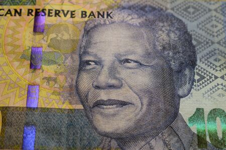 Banknote with the portrait of Nelson Mandela Stock fotó