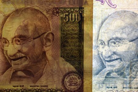 Gandhi's portrait on Indian banknotes