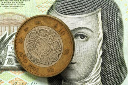 Coin and banknote of Mexico