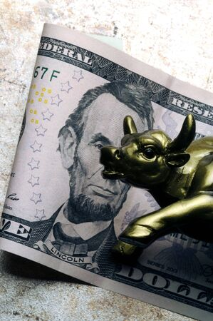 Charging Bull on US currency