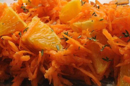 Carrot and orange salad with oregano