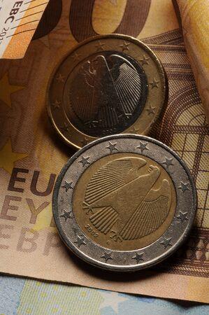 One german euro on banknotes 版權商用圖片