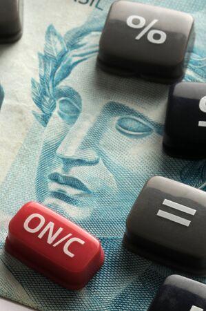 Calculator keys on Brazilian currency