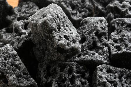 Close up on Befana's charcoal Stock Photo