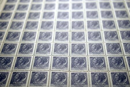 Sheet of old Italian stamps