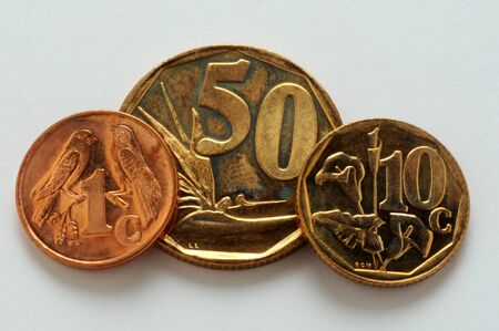 Closeup on currency of south africa