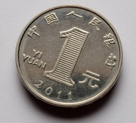 Close up on currency of China