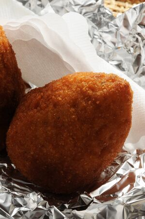 Arancino baked in the oven