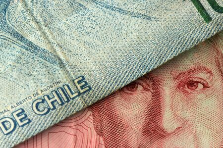 Close up on chilean currency