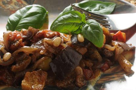 Close up on Sicilian caponata