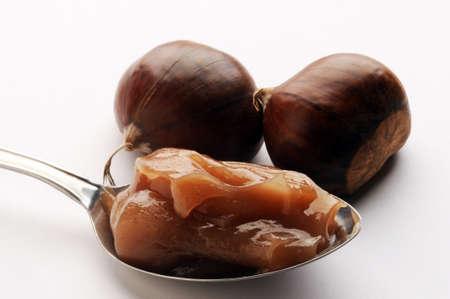 Close up on chestnut cream