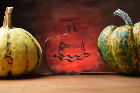 Close up on decorative pumpkins
