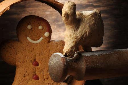 Gingerbread man with rolling pin Standard-Bild
