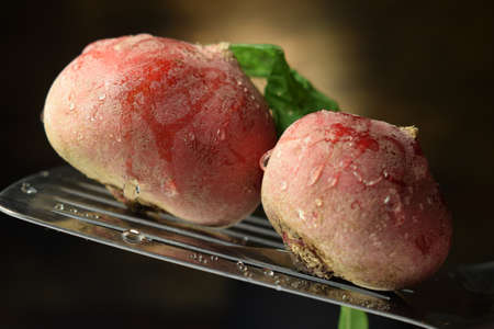 Close up on uncooked beetroot