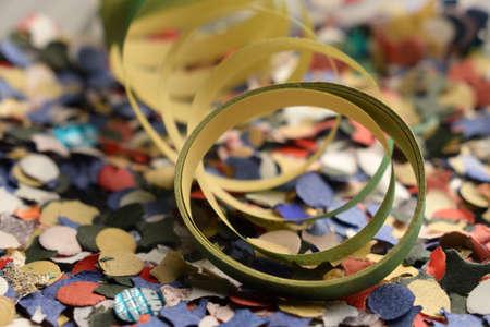Close up on colorful confetti