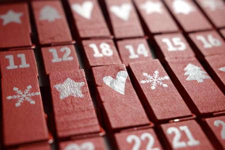 Close up on advent calendar.