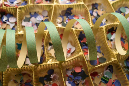 Close up on empty chocolate box
