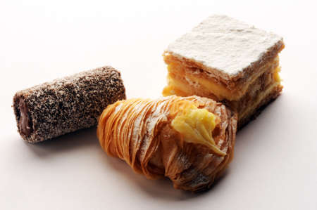 Close up on mixed sweets.