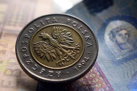 Polish Zoty on Euro banknotes