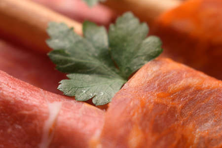 Mixed cold cuts with breadsticks Standard-Bild