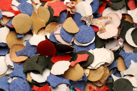 Close up on confetti background