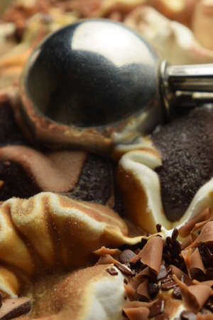 Close up on ice cream