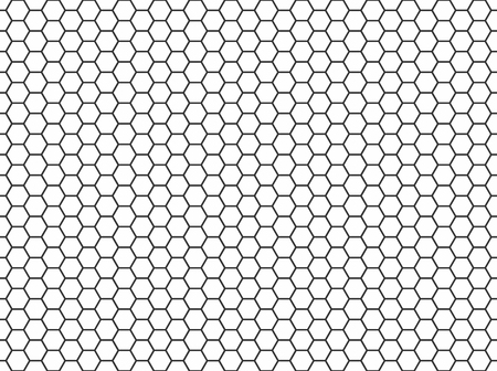 Hexagon honeycomb seamless pattern. Abstract background. Vector illustration