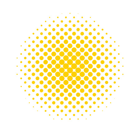 Halftone dots. Colored, abstract background in Pop Art style. Vector illustration