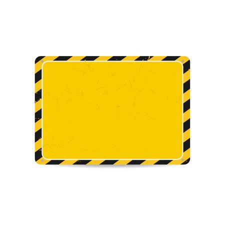 hazard stripes: Hazard frame. Caution frame with black and yellow stripes. Vector