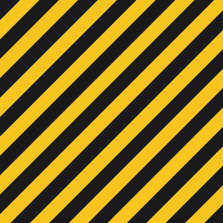 diagonal: Hazard stripes texture. Industrial striped road, construction crime warning. Vector illustration Illustration