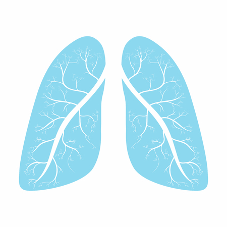 Lungs. Human lungs anatomy symbol. Vector illustration Vector Illustration