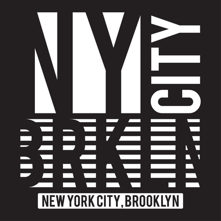 New York, Brooklyn modern typography for t-shirt print. T-shirt graphics. Vector