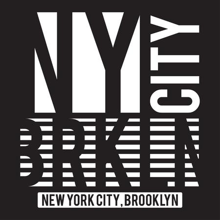 Nueva York, tipografía moderna de Brooklyn para la impresión de la camiseta. Gráficos de la camiseta. Vector Foto de archivo - 79885661