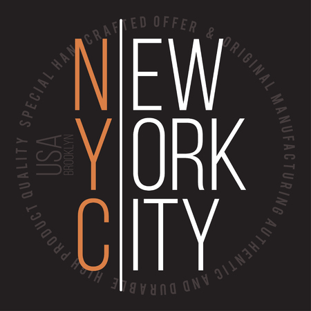 jersey: New York, Brooklyn modern typography for t-shirt print. T-shirt graphics. Vector