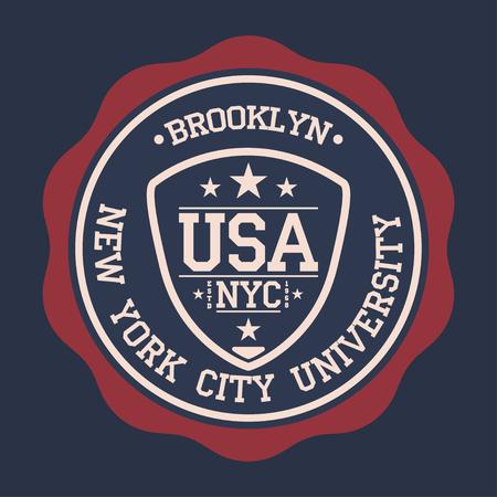 Etiqueta del vintage, tipografía del deporte atlético para la impresión de la camiseta. Estilo del equipo universitario. Gráfico de la camiseta. Vector Foto de archivo - 80338320