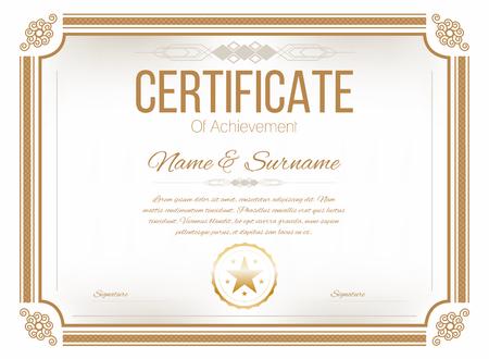 stock certificate: Certificate design template. Retro certificate, diploma design template. Vector