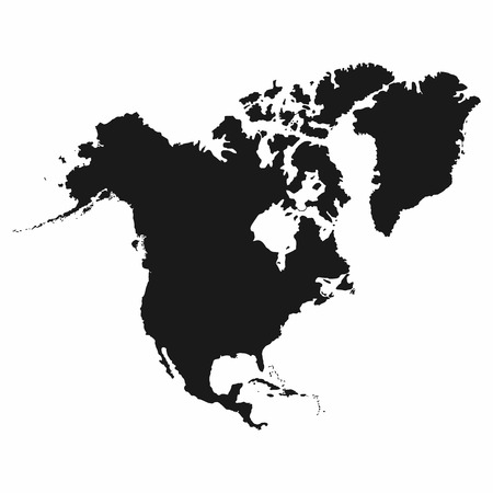 North America map. Monochrome North America icon. Vector Illustration