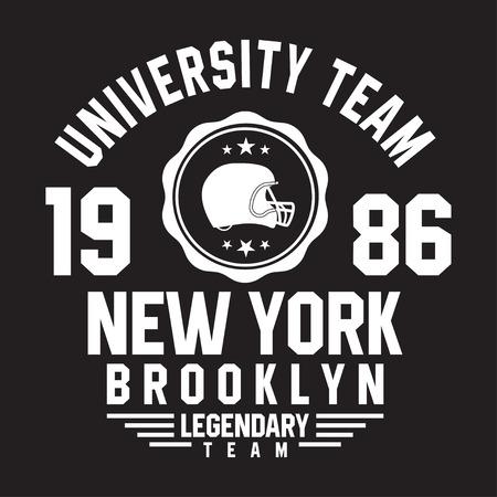 New York, tipografía de Brooklyn para la impresión de la camiseta. Deportes, gráficos atléticos de la camiseta. Vector Foto de archivo - 82451503