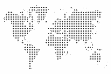 世界地図のドット。世界地図背景を抽象化します。