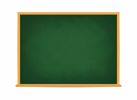 School board. Green blackboard. Dirty school board with traces of chalk isolated on background. Vector