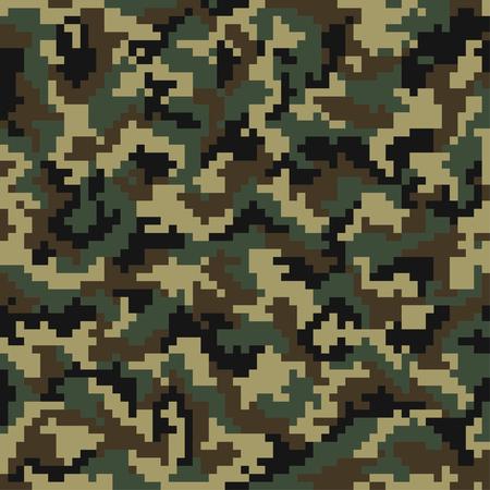 위장 패턴입니다. 디지털 위장 원활한 패턴입니다. 나무 스타일의 픽셀 카 모입니다. 벡터