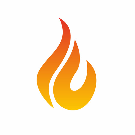 Flame logo, fire icon. Fire flame logo design template. Vector  イラスト・ベクター素材