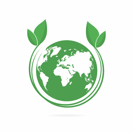 Ecology logo. Eco world symbol, icon. Eco friendly concept for company logo. Vector