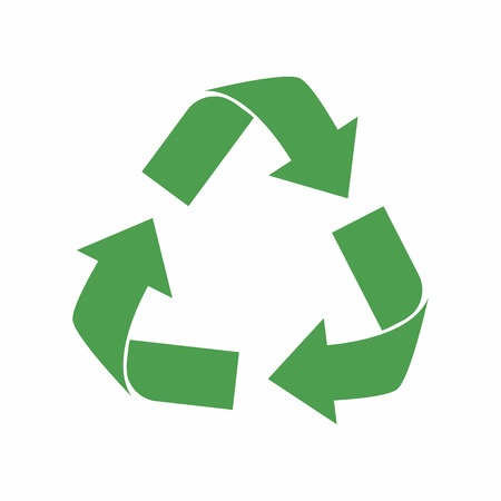 lifecycle: Recycle icon. Green eco cycle arrows. Recycle symbol in ecology. Vector