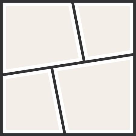 写真のコラージュ フレーム。ビンテージ写真アルバム、アプリケーション テンプレート。ベクトル  イラスト・ベクター素材